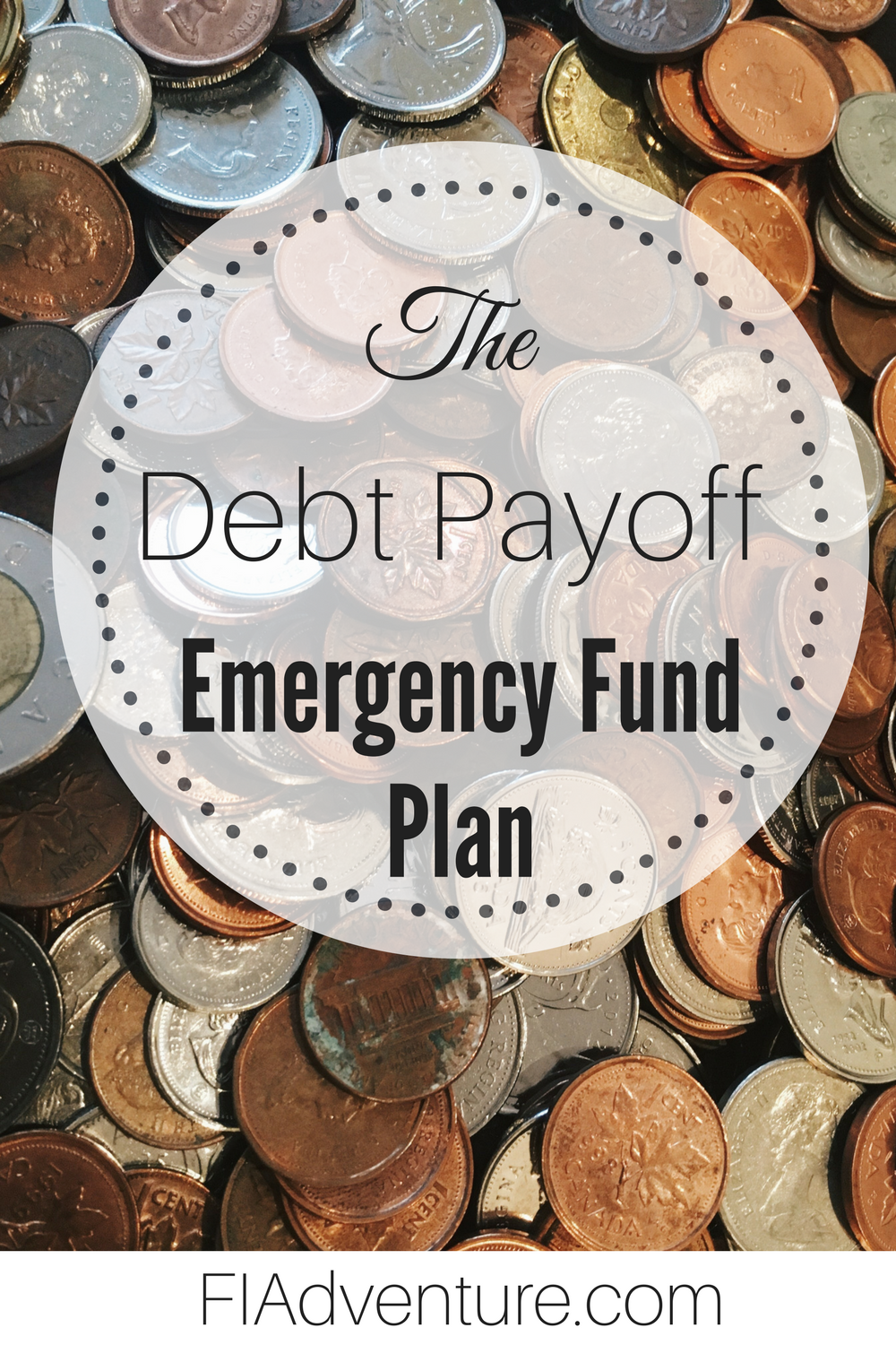 If you've read anything about getting your finances in order you've probably been told to save a least a little in an emergency fund. I'm here to tell you that's only a little true. The Debt Payoff Method of Emergency Fund savings is a much more practical and