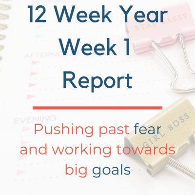 12 Week Year – Week 1 Insights and Update