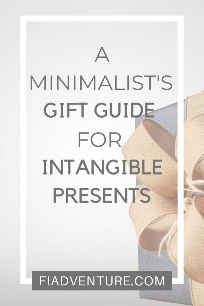 A Minimalist Gift Guide for Intangible Gifts